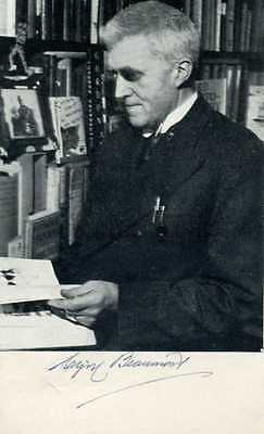 Signed postcard photograph of the dance writer and publisher Cyril Beaumont.