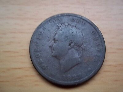 GEORGE  IV 1827 PENNY. Very Rare Good collectable condition