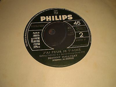 Johnny Hallyday - Cut Across Shorty ( In French) - French Philips 45