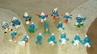 Collection of vintage smurfs