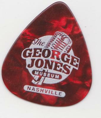 RaRe GEORGE JONES Collectible RED GUITAR PICK COUNTRY MUSIC MUSEUM POSSUM OPRY