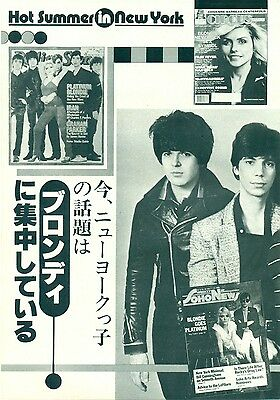 Blondie / Debbie Harry - Clippings From Japanese Magazine Music Life