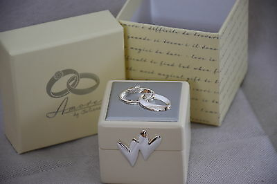 Wedding Ring Bearer Box Amore Icons and Crystals NEW