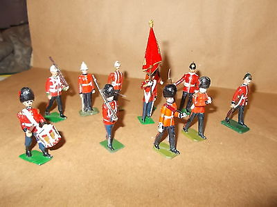 Painted Metal British Grenadiers - Some Colonial Era - 11 Figures- 54Mm -Approx