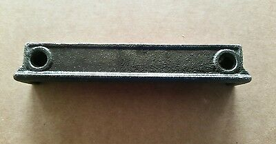 Antique Cast Iron Rim Lock Door Strike Plate Catch Keeper 4 inch. Restored (D)