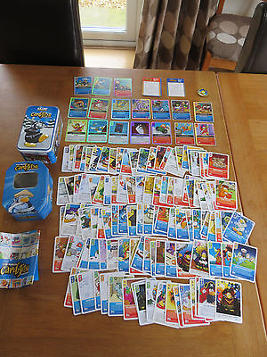 Club Penguin 130+ Card-Jitsu Trading cards and 2 Collectors Tins Disney Topps
