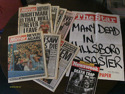 Hillsborough Distaster Newspapers, Magazine & Poster Stand - April 1989