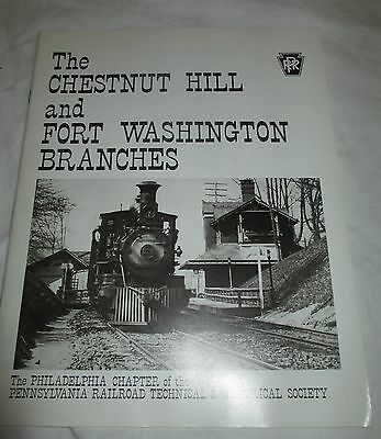 PRR Railroad  Historical Society  Chestnut Hill Fort Washington Branches 1982