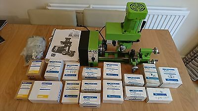 TOYO ML-210 mini lathe with milling attachment & accessories (model engineering)
