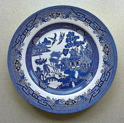 Willow Pattern Plate, Blue and White, Churchill England