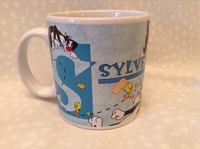 Looney Tunes Tweety Bird Sylvester Mug Cup Applause 1997