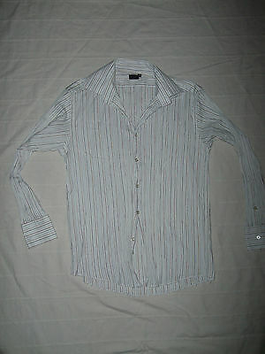Paul Smith mens casual shirt pleated  Size 15.5'' Small / Medium Chest 36''-38'