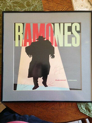 "Ramones Original Pleasant Dreams ""All 4 SIGNED"" and framed Frame"