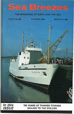 Sea Breezes Oct 1983 150 YEARS OF THAMES TOWAGE SAILING TO THE SCILLIES