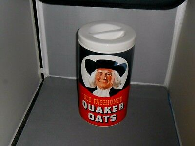 Vintage Stoneware Old Fashioned Quaker Oats Cookie Jar Regal China Limited Ed