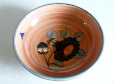 Jersey Pottery Pin Dish Hand Painted 12 cm