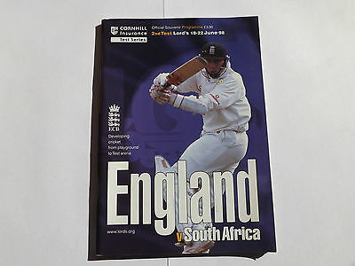 1998 ENGLAND v SOUTH AFRICA 2nd test Lords June 98