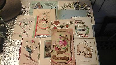 12 C1930s Christmas & Birthday Cards Different Kinds
