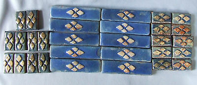 25 Antique Arts & Crafts Tiles Mercer Moravian Pottery Ceramic Borders Accents