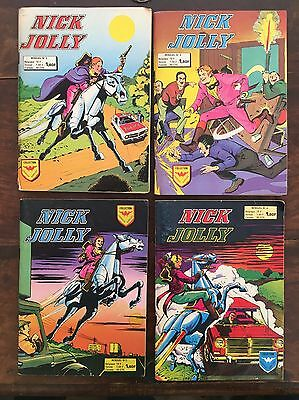 NICK JOLLY Lot 4 Nos : 1 2 3 Et 4  Aredit 1975 PETIT FORMAT  TBE EO