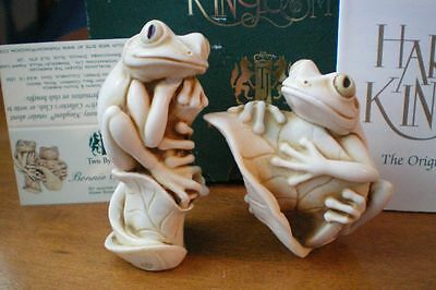 Harmony Kingdom Adam Binder Bonnie & Clyde Frogs Marble Resin UK Made NIB