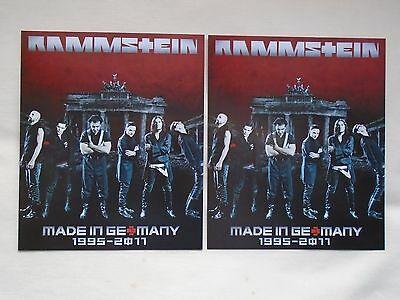 "RAMMSTEIN Live in Concert 2012 ""Made in Germany 1995-2011"" Promo tour flyers x 4"