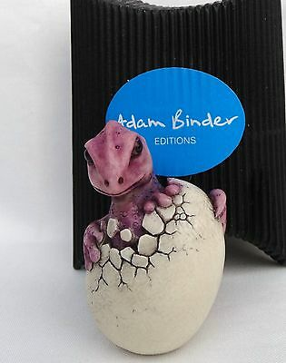 'Hatchling Dragon' Purple NETSUKE Timed Edition Adam Binder  2012 U.K
