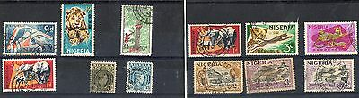 Nigeria 3 Stock cards nice lot of stamps Mint and Used