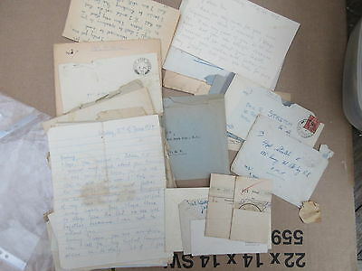 Letters to L/Cpl E R Stretch RE from Ernis Scharrer Fiance/Wife WW2 era