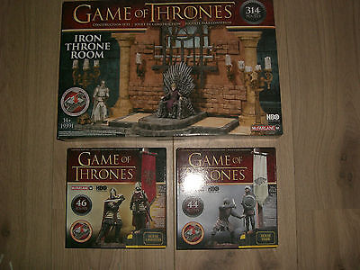 Game of Thrones Construction Set all 3 piece McFarlane Toys HBO