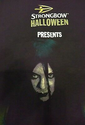 Strongbow Halloween T Shirt And Glasses Set Size L