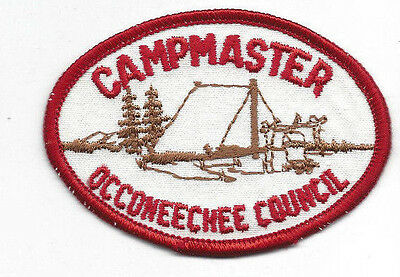 Occoneechee Council Campmaster Red Border Patch pb [OTT841]
