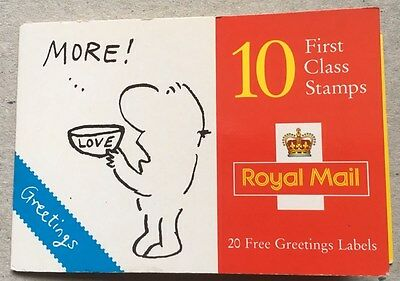 GB 1996 Book of 10 Greetings Stamps Cartoons & labels MINT Face Value £6.40