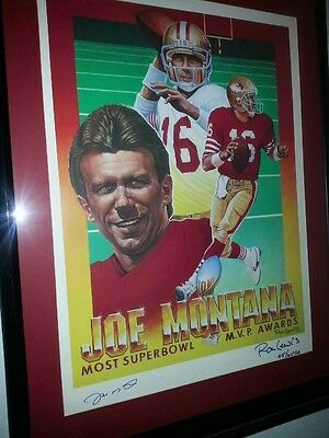 Limited edition lithograph autographed by Joe Montana and the artist Ron Louis