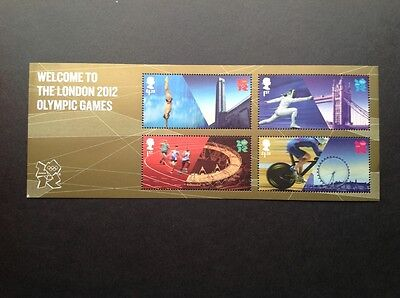 Welcome to London 2012 Olympic Games Miniature Sheet.