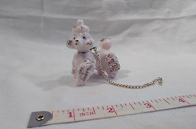 1950's small pink poodle ornament