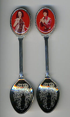 Donny and Marie Osmond 2 Silver Plated Spoons Featuring Donny and Marie