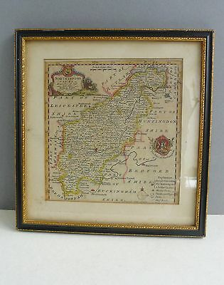 Antique map of Northamptonshire 18th century Georgian- Bowen- Framed- Attractive