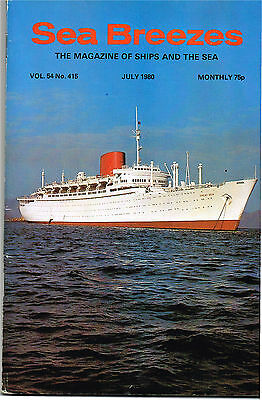 Sea Breezes July 1980 After 100 Years: A Museum Of The Sea, Mersey Activity