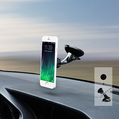 Car Phone Holder Windscreen Dashboard Magnetic Mount Stand for Galaxy S9 S8 Plus
