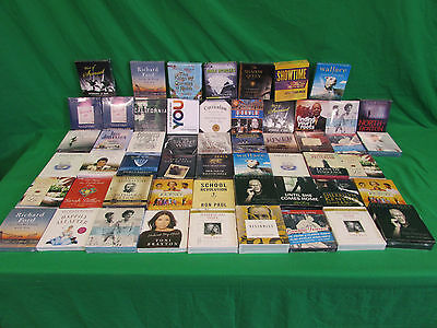 Wholesale Lot 54 New Audio book on CD lot #44  fiction & Non-Fiction selection