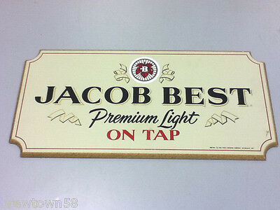 Pabst beer sign wood plaque On Tap brewery Jacob Best  vintage bar signs 1 UF5