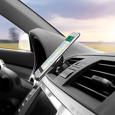 Magnetic Car Phone Holder Air Vent Mount Cradle 360 Rotation for Samsung iPhone