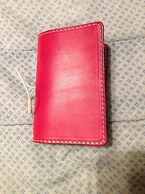 Chic Sparrow Pocket Size American Dream Classic Pink Bliss Leather Notebook