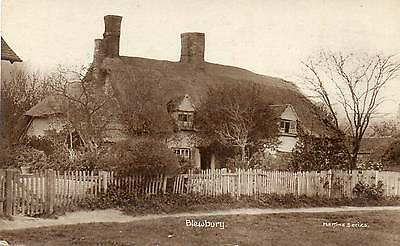 OLD REAL PHOTO POSTCARD of BLEWBURY, OXFORD - POSTED 1920