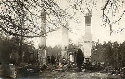 OLD REAL PHOTO POSTCARD of the aftermath of A FIRE