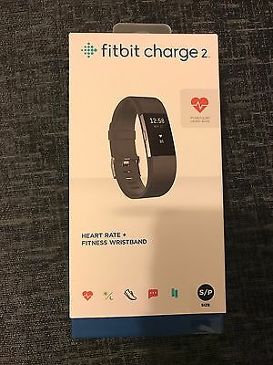 Fitbit Charge 2 Heart Rate + Fitness Wristband *BRAND NEW SMALL/BLACK*