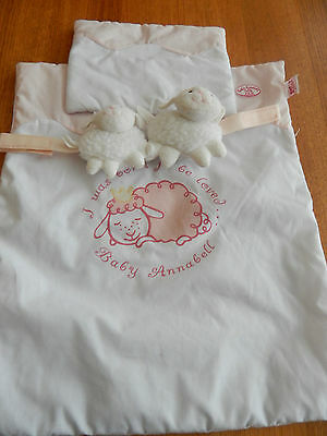 Baby Annabell * Sheep Toy , Pillow & Blanket For Car Seat / Baby Carrier
