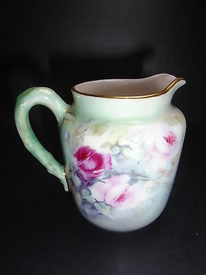 Haviland & Co Limoges ~ ANTIQUE PORCELAIN CREAM PITCHER ~ Artist Signed Peterson