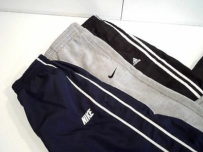 Lot of 3 Nike & Adidas Boy's Sweatpants Size Large Warm Up Black Gray Navy L